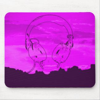 mousepad DJ del horizonte del champán