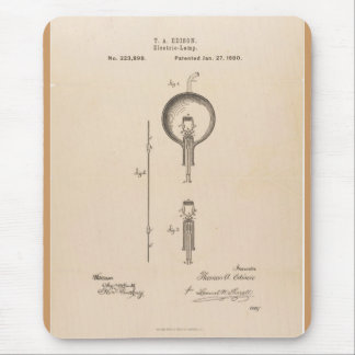 Mousepad / Edison Light Bulb Patent
