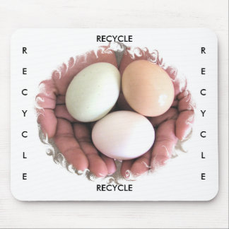 Mousepad Eggs in Hands Photo Art Recycle