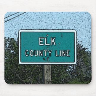 Mousepad El condado de Elk Kansas Alfombrillas De Ratones
