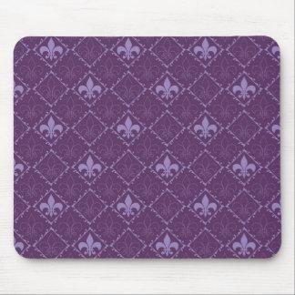 Mousepad elegante púrpura del modelo de la flor de alfombrilla de raton
