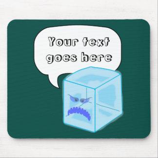 mousepad enojado del cubo de hielo