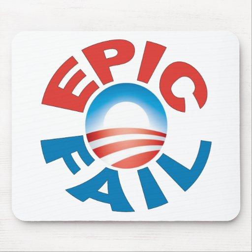 Mousepad épico del fall de Anti-Obama Alfombrillas De Raton