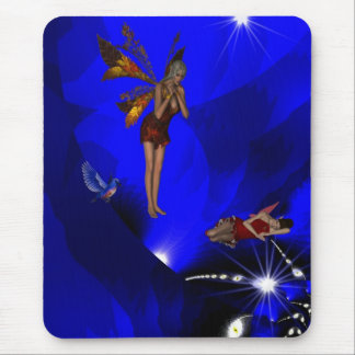 Mousepad Fantasy Art Two Angels Magic Spell