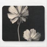 Mousepad floral blanco y negro alfombrillas de ratón