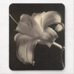 Mousepad floral blanco y negro alfombrilla de ratones