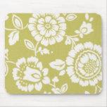 Mousepad floral enrrollado retro