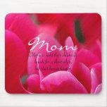 Mousepad floral rosado y rojo de la mamá tapetes de ratones