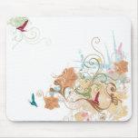 Mousepad floral tapete de ratón