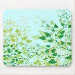 Mousepad floral verde de la primavera tapetes de raton