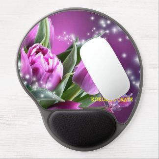 Mousepad (FLORES de MARIPOSA PÚRPURAS) Alfombrillas Con Gel