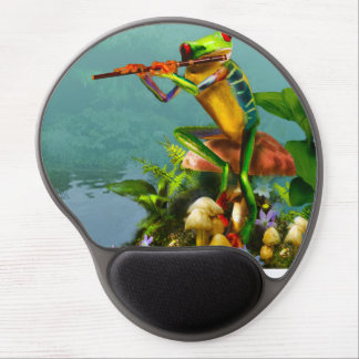 Mousepad Flut Playing Frog Gel Mouse Pad