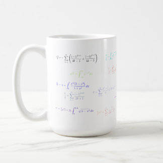 Mousepad - formulación del pi taza básica blanca
