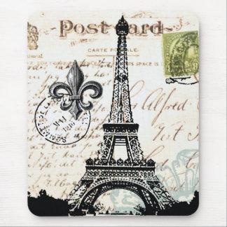 Mousepad francés de la torre Eiffel del vintage