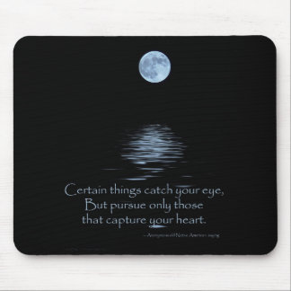 MOUSEPAD, Full Moon and Native American saying Mouse Pad