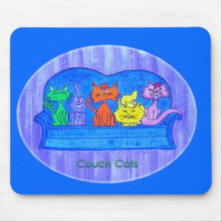 Mousepad - gatos del sofá alfombrillas de ratón