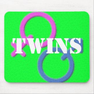 mousepad gemelo de los símbolos del género del chi tapete de raton