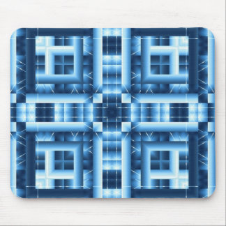 Mousepad geométrico azul