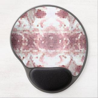 mousepad geométrico del gel del rosa fresco de la  alfombrilla de ratón con gel