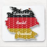 Mousepad German Flag Einigkeit Recht Freiheit