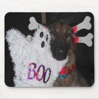 Mousepad German Shepherd Halloween Boo