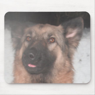 Mousepad German Shepherd Sticking Tongue Out