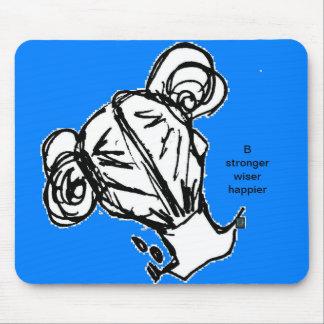 Mousepad - Girl, B stronger wiser happier