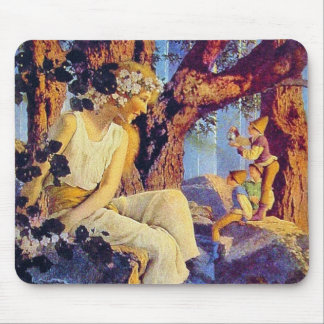 Mousepad: Girl with Elves - by Maxfield Parrish