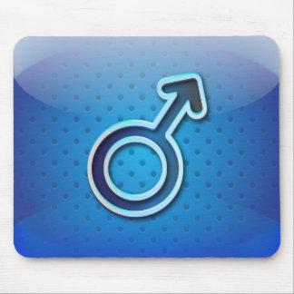 Mousepad glossy gender man symbol
