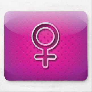 Mousepad glossy gender woman symbol