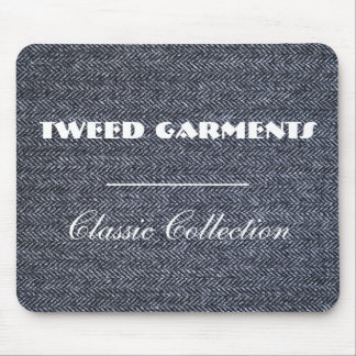 MousePad: Gray Tweed Fabric Mouse Pad