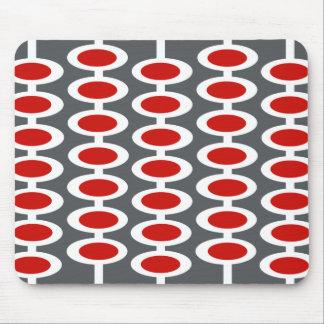 Mousepad gris, blanco y rojo del modelo retro del  alfombrillas de ratón