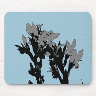 Mousepad gris de la flor tapetes de ratones