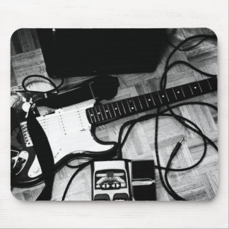 """Mousepad """"Guitar (Black and white)"""