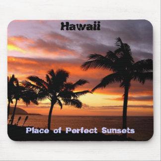 Mousepad hawaiano de la puesta del sol