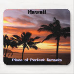Mousepad hawaiano de la puesta del sol alfombrillas de ratones