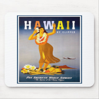 Mousepad-Hawaii Vintage Advertisement Mouse Pad
