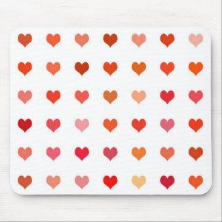 Mousepad Hearts Love Girly Sweetheart