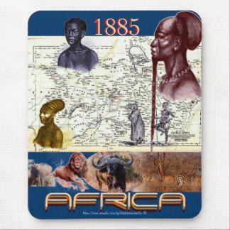 Mousepad histórico 1885 del vintage del africano