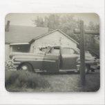 Mousepad histórico del coche de los años 50 tapetes de ratones
