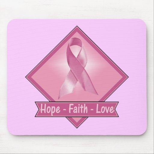 Mousepad - Hope Faith Love Breast Cancer