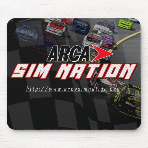 Mousepad horizontal original de la nación de Sim d