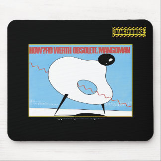 Mousepad Howard Werth Obsolete Dangerhouse BLACK