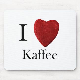 Mousepad I loves coffee