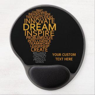 Mousepad inspirado del personalizado de la bombill alfombrilla de raton con gel