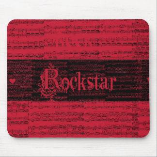 Mousepad interno del rojo de Rockstar