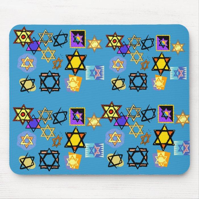 MOUSEPAD JEWISH STARS