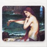 Mousepad: John Waterhouse - A Mermaid
