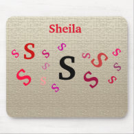 Mousepad - Jumbled Letters with Name