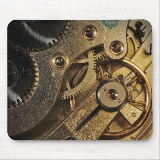 MousePad: Latón Hearted. Mecanismo del reloj Alfombrillas De Ratones